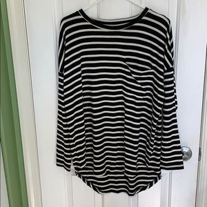Black and white striped long sleeve from Old Navy